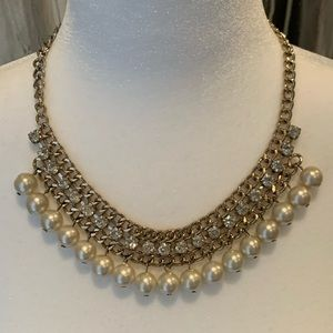 ALDO faux Pearl and Crystal Accent Necklace